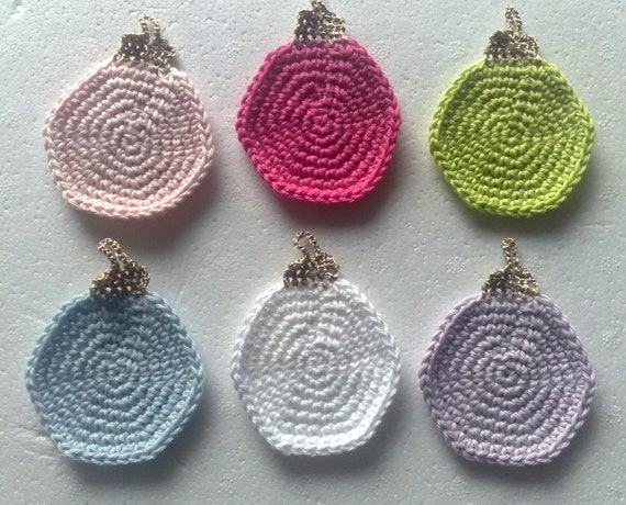 Christmas tree balls crocheted, hanging ornaments crochet, 6-seater set
