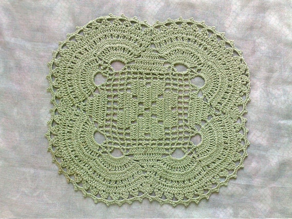 Shamrock Clover Crochet in green
