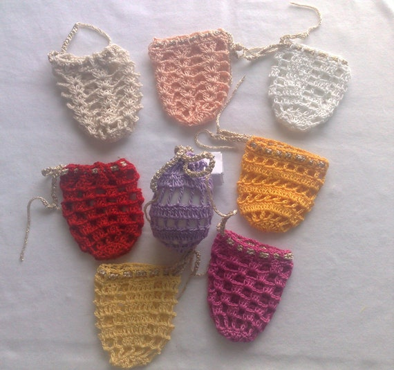 Crochet Easter egg cover, set of 8 pieces in yellow, light blue, pink, white, nature, purple, apricot and red