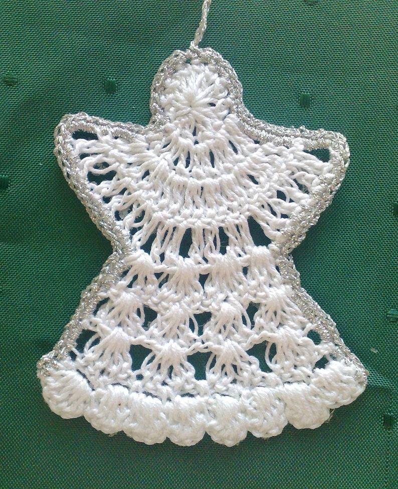 Set 12 Crochet Christmas Angels ornaments hanging Angel,Christmas decor winter