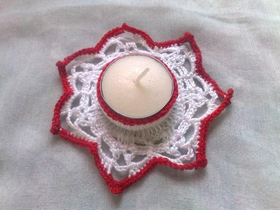 Tealight Holder for Thanksgiving, Candle Holder, Gift, Crochet, Tea Light Holder, Candlestick, Decoration, Room Decor