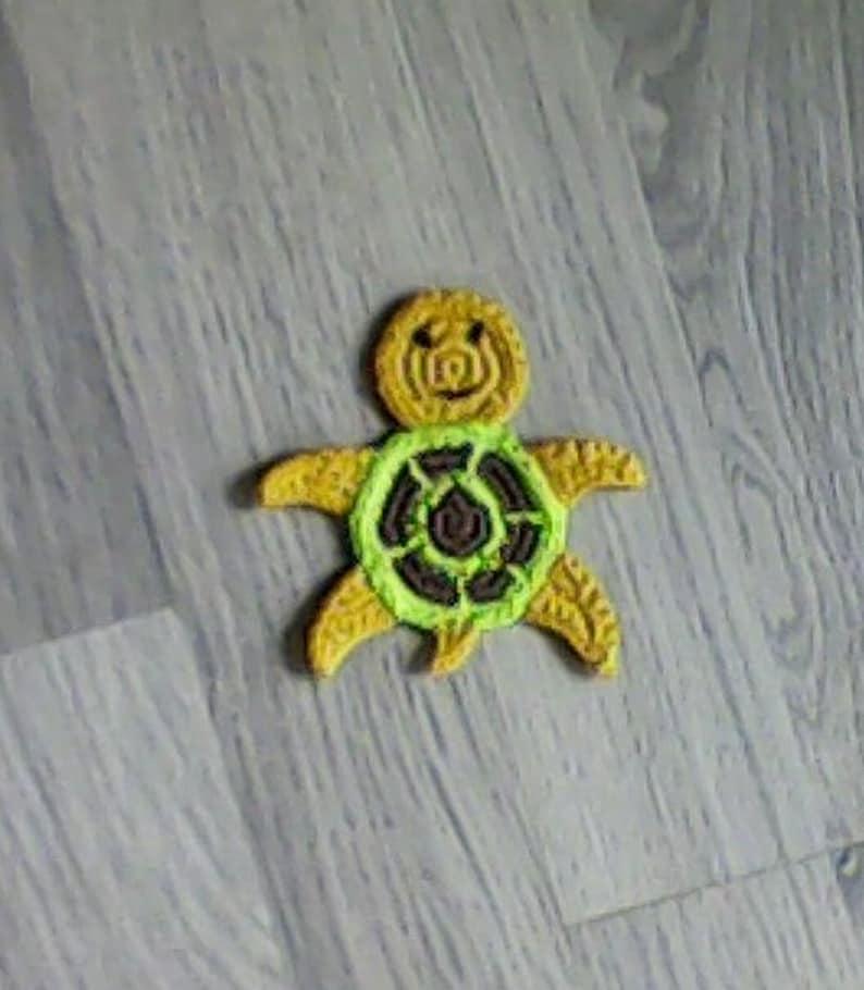 Sea Animal Applique Turtle Motif Crochet Turtle Applique Turtle Embellishment