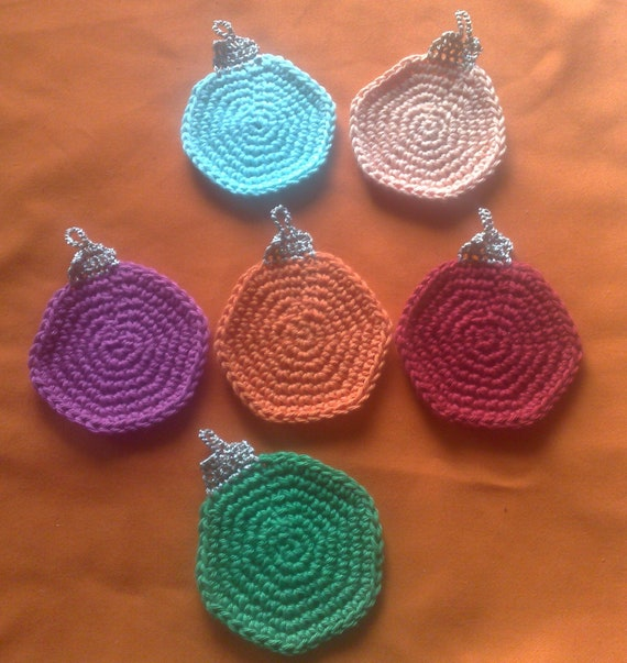 Christmas tree decorations, crochet Christmas tree balls, Christmas tree decorations, set of 6, hanging ornaments