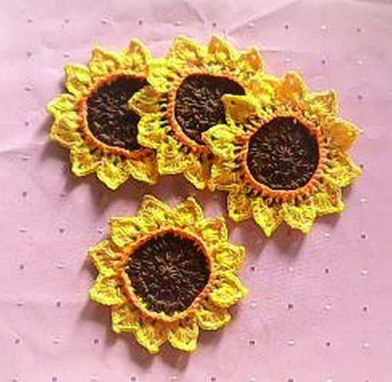 SunflowerCoastpers, Glass Coasters, Sunflowers, Beer Toppers, Drinks, Coffee, Home Decor, Kitchen, Tea Party, Country House, Housewarming