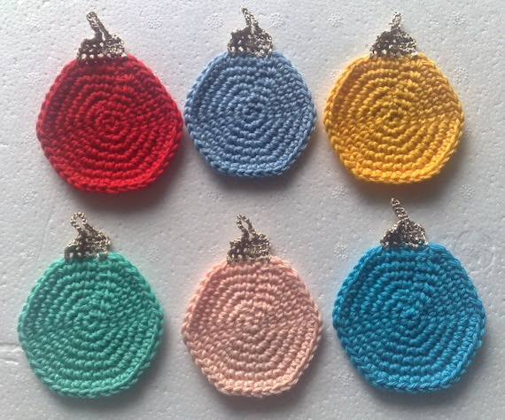 Christmas tree decorations, colorful, Christmas, crochet balls hanging ornaments, 6-set