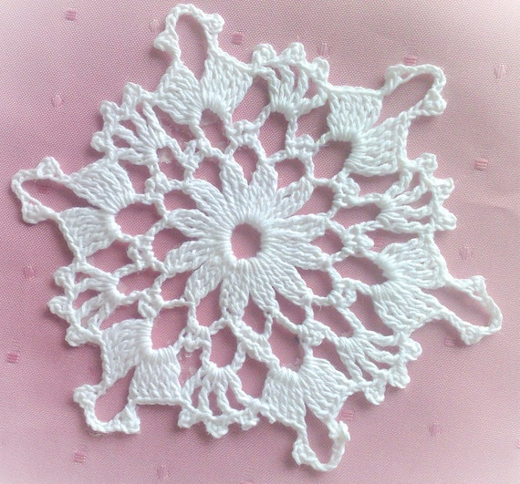 Snowflake Christmas Decoration crochet 5.5""