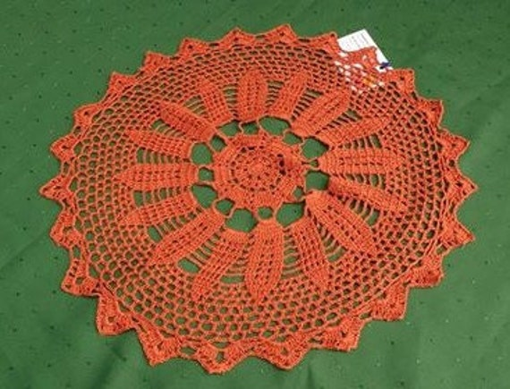 """Amber-Brown Crochet cover 18 """"handmade crochet cover in a beautiful design"""