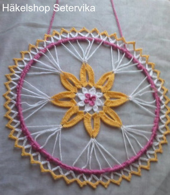 Mother's Day Gift,Easter Gifts Crocheted,Window Picture Spring,Sun catcher,Dreamcatcher Flower,Dreamcatcher,Wall Hanging