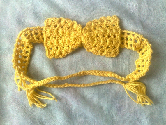 Crochet bow headband for children and newborns, crochet hairband, crochet hair bow, crochet headband, hair accessories
