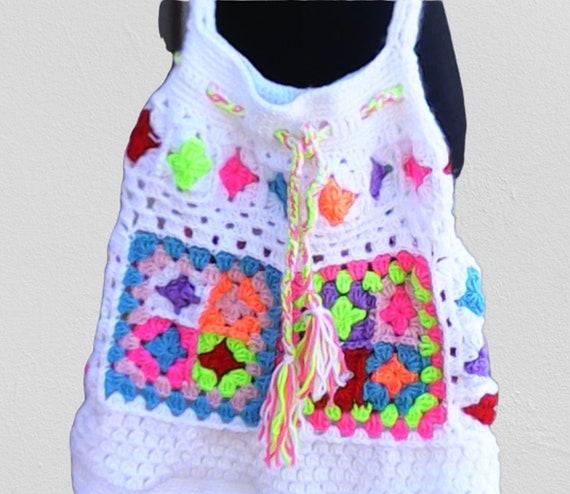 Crochet tote bag, Granny Square bag, crochet bag, crochet shoulder bag