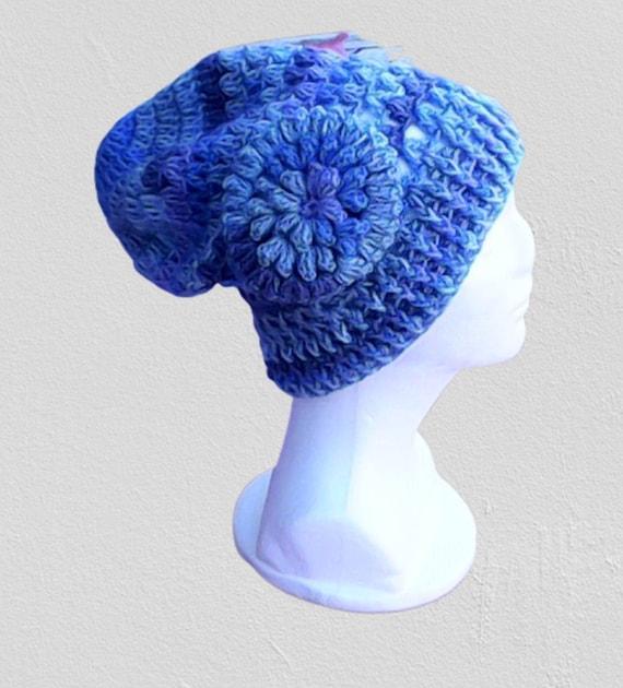 Blue Wool Hat, Beanie Wool Wool Hat Warm Winter Hat Crochet Cap Handmade Winter Ladies Adults Beanie Warm Winter Fashion Accessory