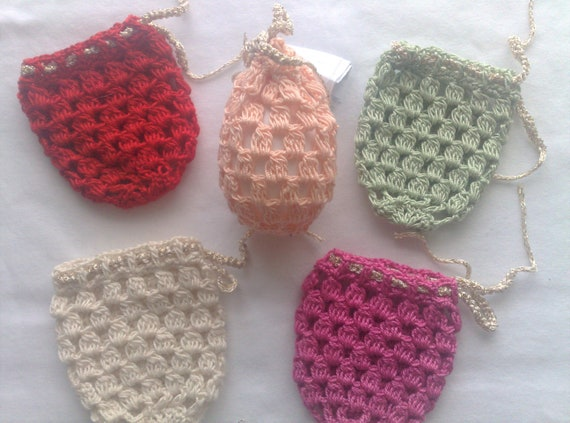 Crochet from Easter egg cover, set of 5 hand crocheted Easter decoration in the colors apricot, light green, pink, red and white