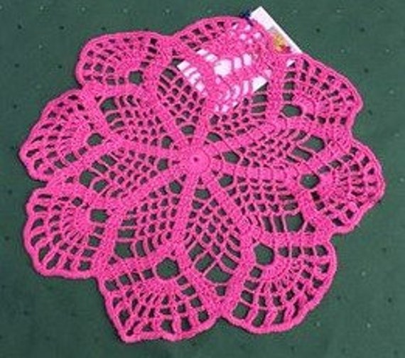 Crochet cover pink round crochet lace napkin Home decor table decoration gift for mothers 10 inches