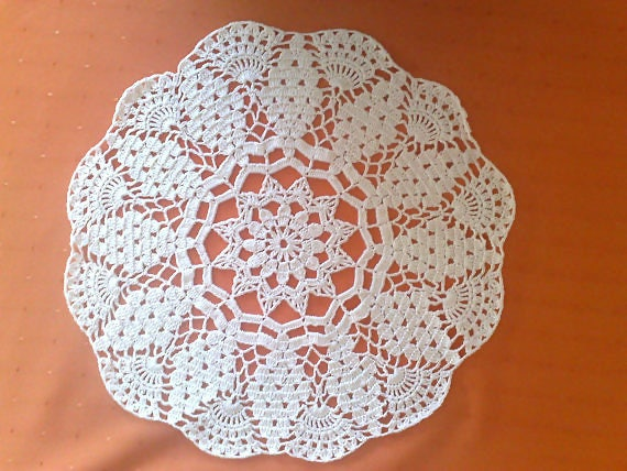 Mother's Day gift crocheted decorative cover in green cotton