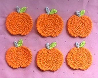 Autumn Pumpkin Crochet Patch 1 Piece Crochet Applique