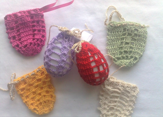 Crochet Easter egg cover, set of 6 hand crocheted Easter Egg covers