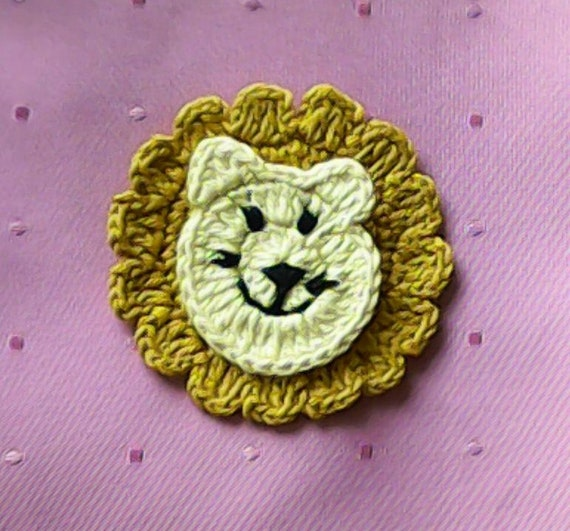 Lion crochet lion crochet application application Upon closer crochet closer zoo crochet image crochet image crochet image crochet image in beige and pale yellow