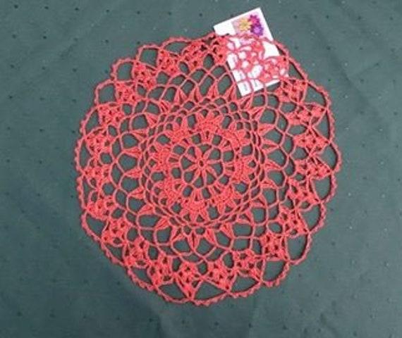 """Handmade from Brown cotton crocheted Spitzrendeckchen 12 """""""