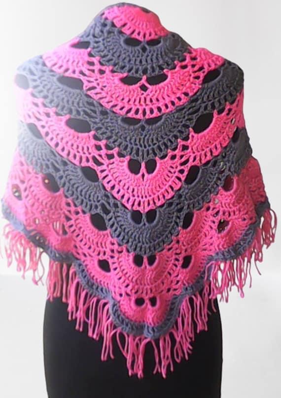 Handmade crochet scarf for children, virus scarf, crochet scarf, handmade triangular scarf, gift idea