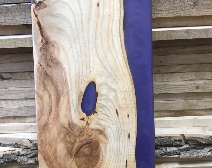 Ash and Purple Epoxy Charcuterie