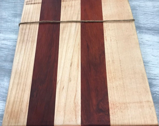 Live Edge Maple and Padauk Cutting Board