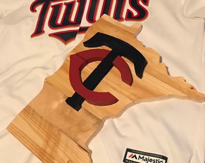 Wooden MN Twins Wall Decor