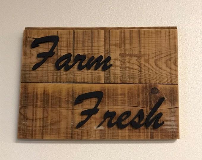 Farm Fresh Sign   Farm Sign   Barn wood Sign