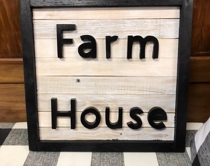 Hand Made Farm House Sign   Farm Sign