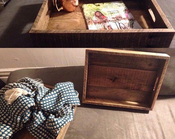 Rustic Pallet Trays / Reclaimed wooden trays