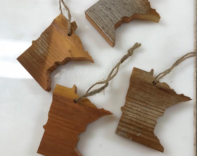 Minnesota Barn Wood Ornaments