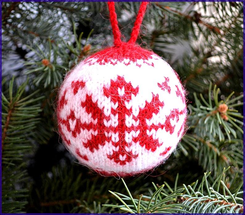 Christmas Ornament knitting pattern Knit Ornament pattern Ornaments Christmas Knit Ornament balls Christmas Toys DIY Christmas Balls