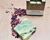 Shower Bar - Rosewood, Eucalyptus & Spirulina - Handmade Artisan Vegan Natural Soap