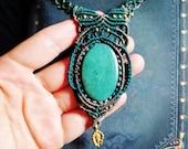 50% SALE from 40.00 for 20.00-Lolita Guatemalita-handmade macrame necklace with Guatemalita gemstone