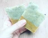 Shower Bar - Lemon Bentonite Clay - Handmade Vegan Natural Soap