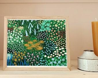 Spring Meadow 02 |  Fine Art Giclee Print | Art Print, Wall Art, Flower, Floral Print, Wildflower Art, Meadow painting, Floral Illustration