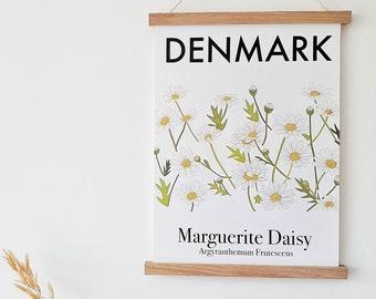 Marguerite Daisy Print / Flowers Art Poster / Flowers Art Print / Floral Print / Denmark Print / Floral Poster / Denmark Poster / Daisy Art