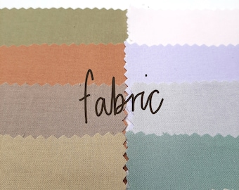 Fabric Bundle | Spring & Autumn Colourways | Embroidery Fabric, Crossstitch Fabric,Plain Cotton Fabric, Patchworking Cotton, Quilting Cotton