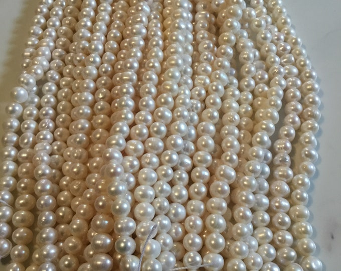 10-11 mm Cultured Freshwater Pearl Strands, Near Round Pearls, Natural Pearls