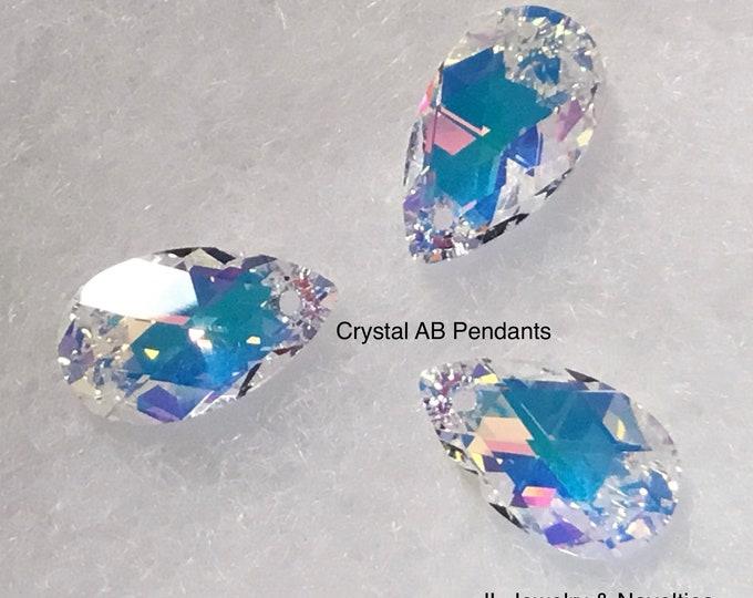 Swarovski Crystal Pendant, Crystals, 22mm X 13mm, Craft Supplies, Jewelry Making, Jewelry Box, Free Shipping