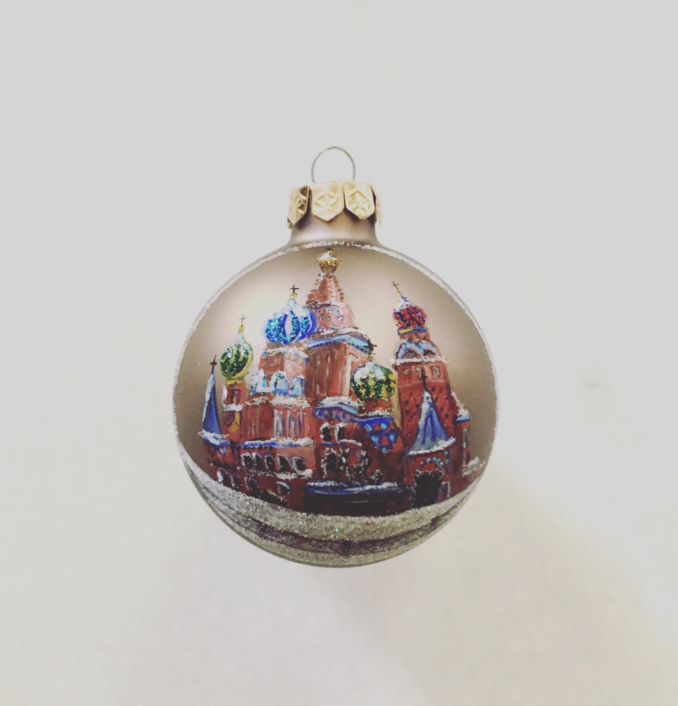 Saint Basil\'s Cathedral Moscow Russia Hand Painted Glass   Etsy