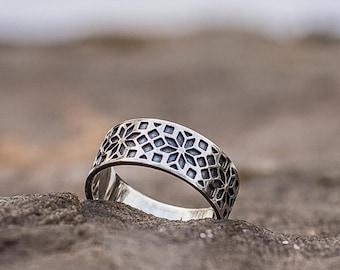 Ukrainian Ornament Ring, Ukrainian Pattern Ring, Silver Ukrainian Ring, Ring with Ukrainian Patterns, Handmade 925 Silver Unique Jewelry