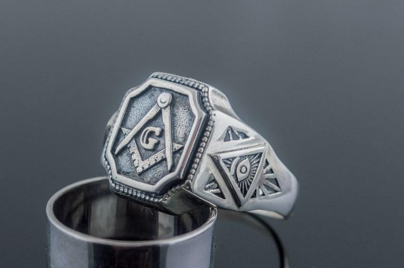 Freemason Ring, 925 Silver Masonic Ring, Knights Templar Jewelry,  Freemasonry Ring, Knights Templar Ring, Master Mason Ring, Mason Jewelry