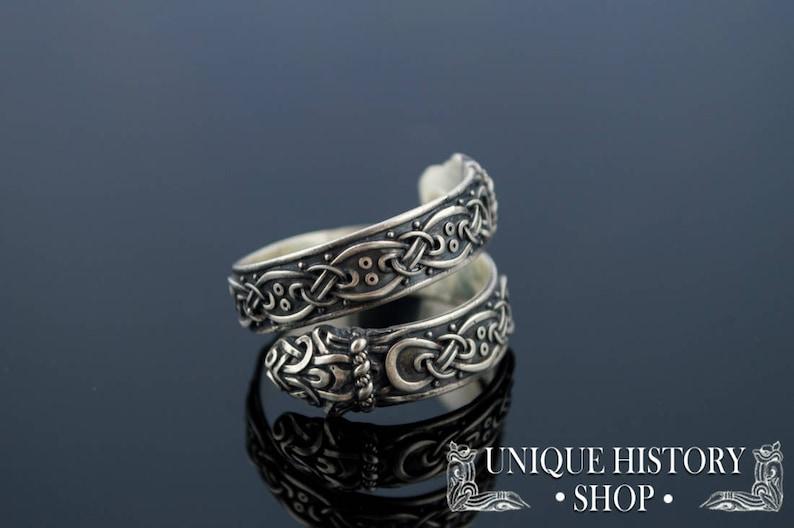 Jormungand Ring • Ouroboros Ring • Viking Jewelry • Viking Ornament Ring •  Norse Ring • Scandinavian Jewelry • Norse Serpent Ring