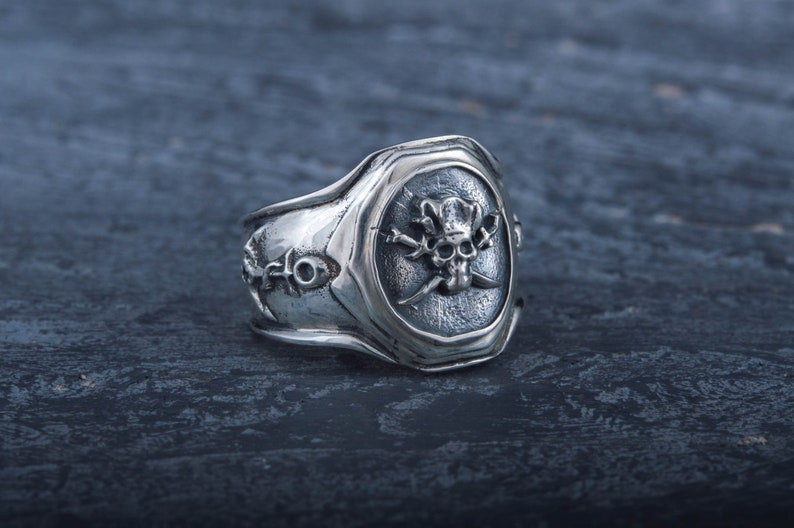 Pirate Ring Jolly Roger Ring Pirate Jewelry Pirate Skull image 0