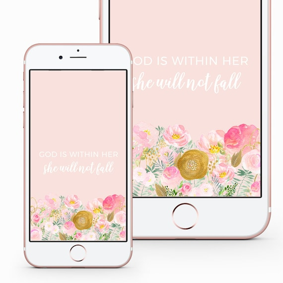 Phone Lock Screen And Home Screen Wallpaper Psalm 46 5 Etsy