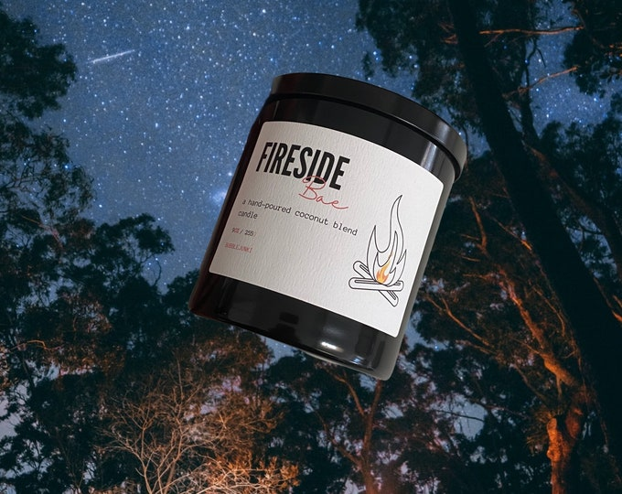 Fireside Bae Coconut Apricot Luxury Candle