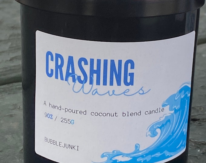 Crashing Waves Coconut Apricot Luxury Candle