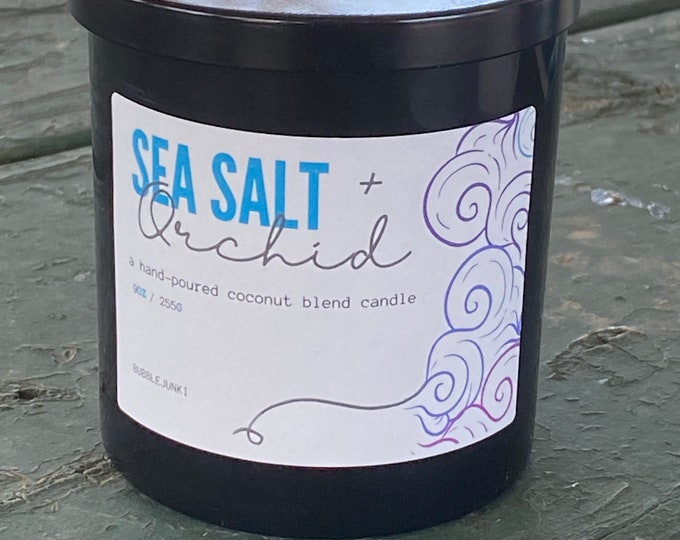 Sea Salt + Orchid Coconut Apricot Luxury Candle