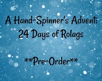 Pre-Order.  Fiber Advent Calendar for Hand Spinners.  Merino Rolag Set.  Holiday Gift. Christmas Gift.