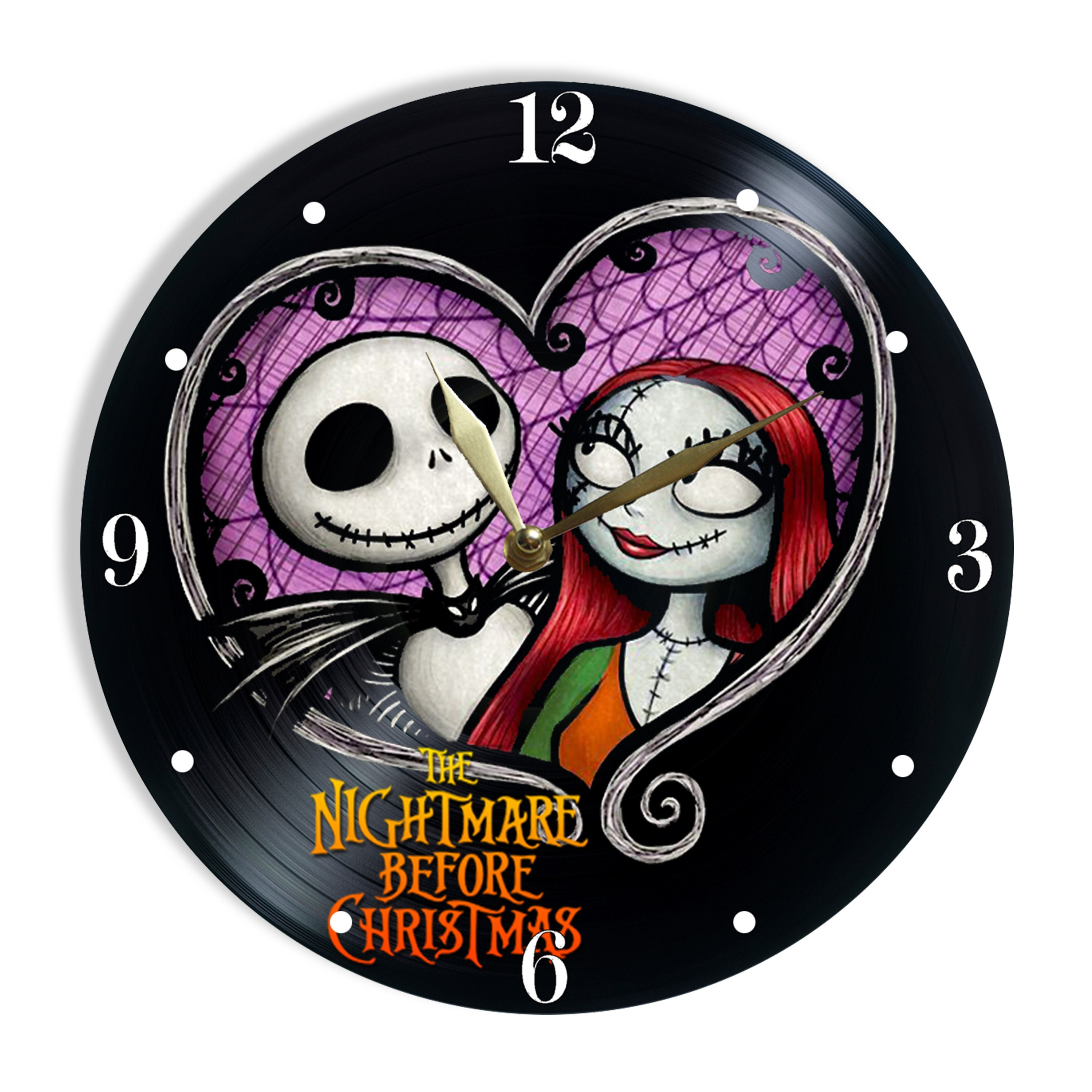 Nightmare Before Christmas Painted Vinyl Clock Christmas | Etsy